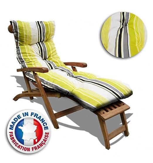 Cojín baño de sol líneas verdes pas barato Fabrique en ...