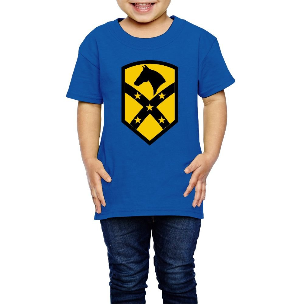 Girls The 1st Air Cavalry Brigade T-Shirt Photoshoots Or Hiking Camping Travel Vacation T-Shirt Or Daily Wear RoyalBlue 3 Toddler