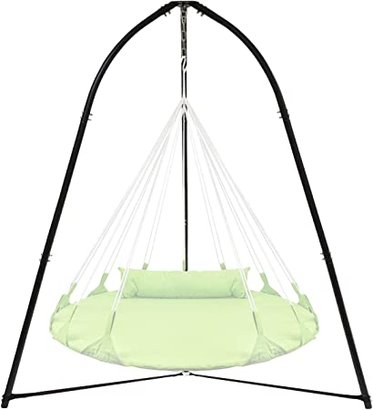 Amazon Com Sorbus Tripod Hanging Chair Stand Frame For Hanging Chairs Swings Saucers Loungers Cocoon Chairs Great For Indoor Outdoor Use Patio Lawn Deck Yard Garden Garden Outdoor