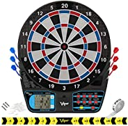 Viper 787 Electronic Dartboard, Ultra Thin Spider For Increased Scoring Area, Free Floating Segments Don't