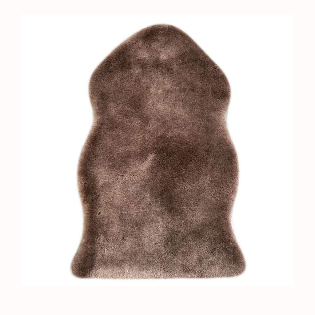 Furniture Accessories Floor mat Sofa Cushion Carpet Sheepskin Sheep Sheared Leather Sofa Cushion Short Hair Combination Casual Wool Cushion Three Winter (Color : Brown, Size : 65110cm)