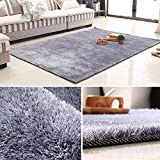 Extra large Baby crawling mat,Liangsi Solid color Rectangle Carpet,Decorative rugs,For bedroom living room nordic style restaurant bedside blanket-gray 70x140cm(28x55inch)
