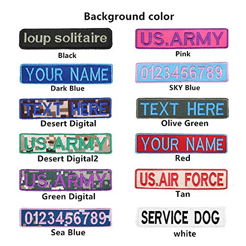 Personalized Custom Name Patches Embroidered Badges of 2 pcs, Multifarious Name Tag for Work Shirts Jackets Backpacks (Fastener Hook)