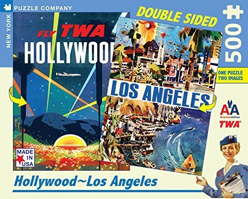 500 American Airlines - New York Puzzle Company - American Airlines Hollywood-LA - 500 Piece Jigsaw Puzzle by New York Puzzle Company