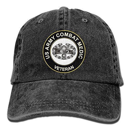 KERLANDER US Army Combat Medic Veteran Adjustable Washed Twill Baseball Cap Dad Hat