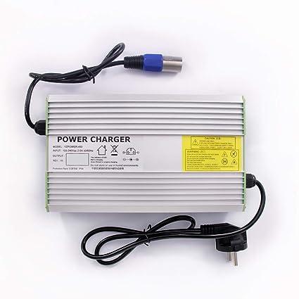 PMYZ 54.6V 8A Cargador de batería de Litio para Moto ...
