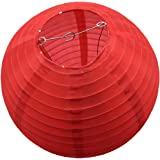 BestTong Waterproof LED Solar Lantern Lamps Festive Garden Xmas Ball String Fairy Light for Party Holiday Red