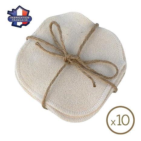 MODULIT 10 Discos Desmaquillantes Lavables y Reutilizables en algodón orgánico