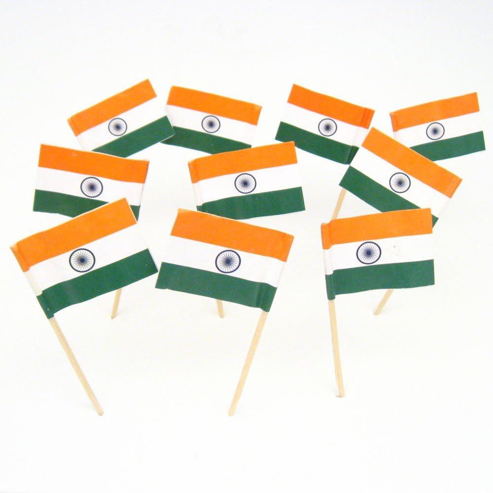India Indian Flag Toothpicks 100