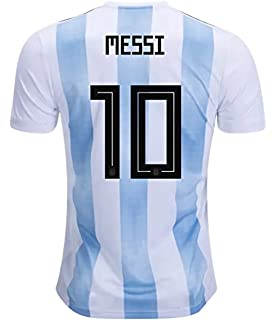 CampJuly 2018 World Cup Soccer Team Argentina Messi 10 Home Men s Jersey  Color White fc5c159ba
