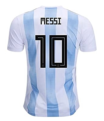 8506c403c57 CampJuly 2018 World Cup Soccer Team Argentina Messi 10 Home Men's Jersey  Color White Size L