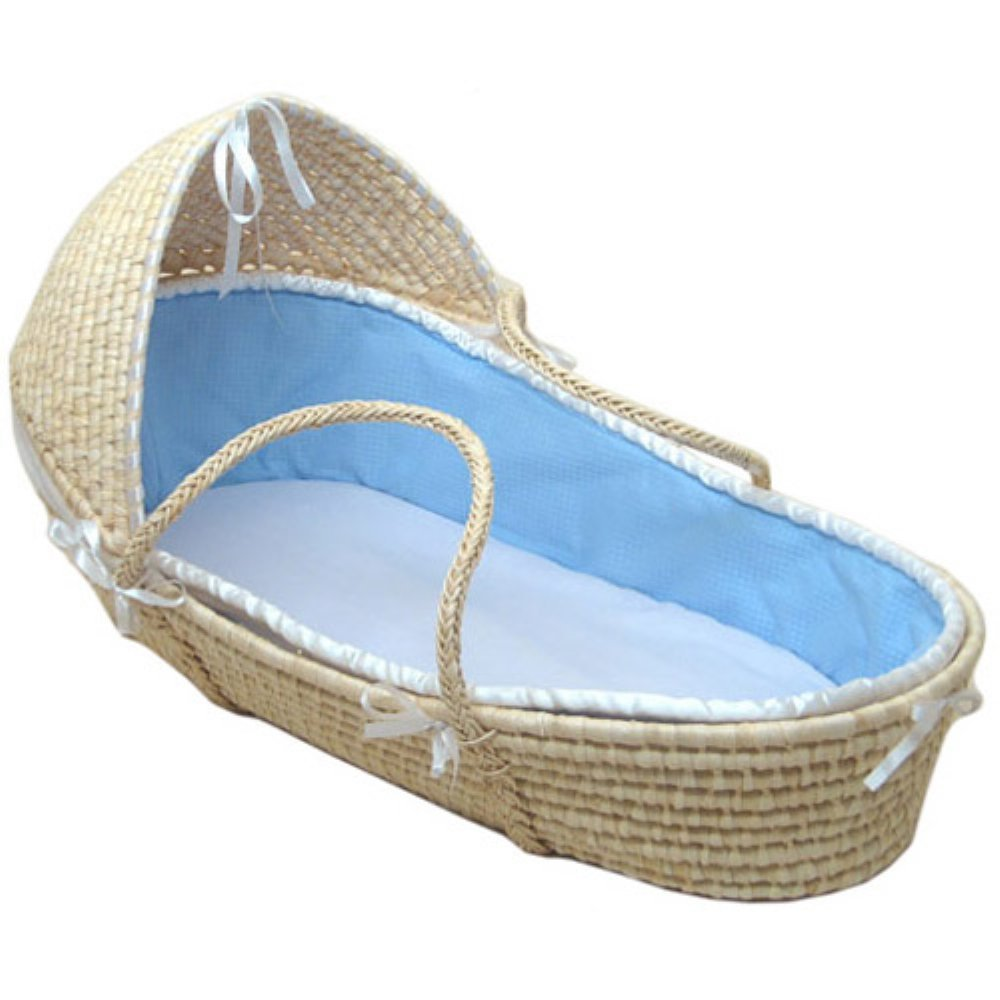 Hooded Moses Basket by Badger Basket   B00GNUEEM6