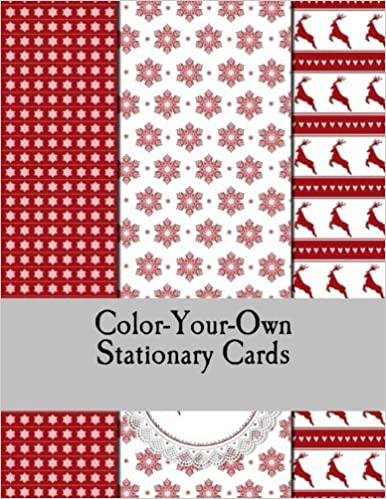 amazon com color your own stationary cards christmas cards to