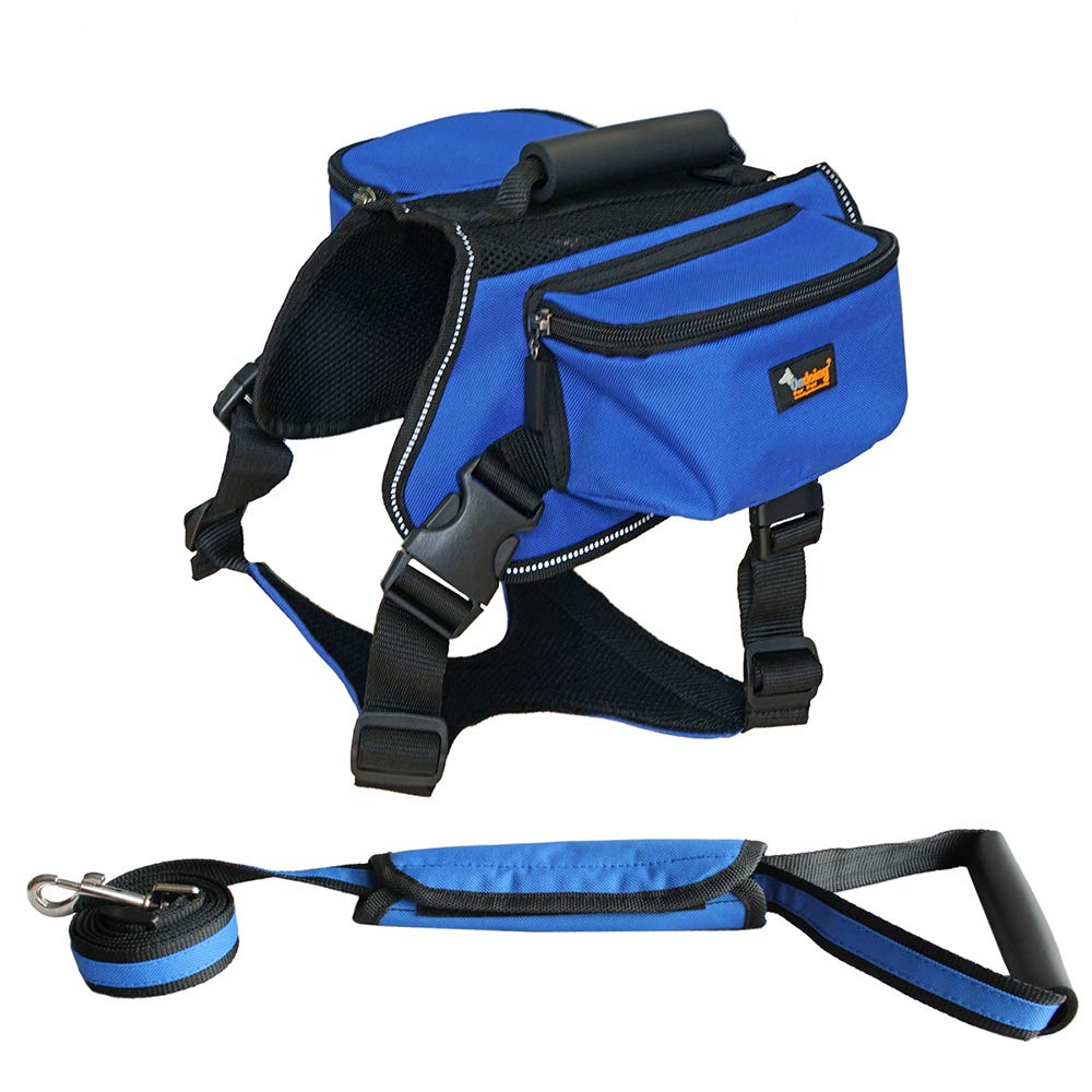 Pet Backpack Pet Chest Strap with Dog Strap Medium Large Dog Leash Vest Style Dog Leash Dog Chain Shape,blueePlus,XL