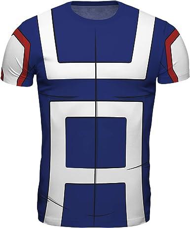 ABYstyle - My Hero Academia - Replica T-Shirt - Estudiante - Azul e Blanco: Amazon.es: Ropa y accesorios