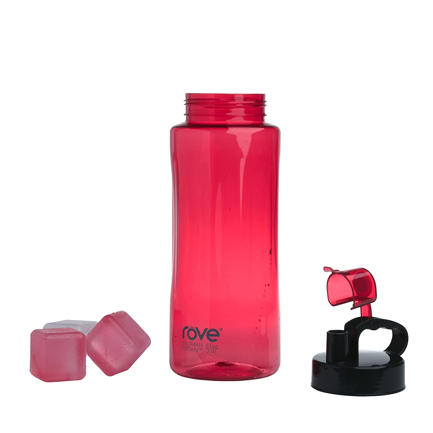 7bb0efc0e341 Rove 2.4L / 81oz Single Wall Tritan Water Bottle with 3 Big Reusable Ice  Cubes - All Day Long