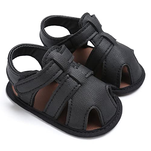 234f0c1d0259b Royirene Infant Baby Boys Summer Shoes Soft Sole Anti-Slip PU Leather  Sandals