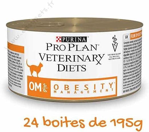 Purina PVD Feline OM - Lote de 24 latas de comida húmeda para ...