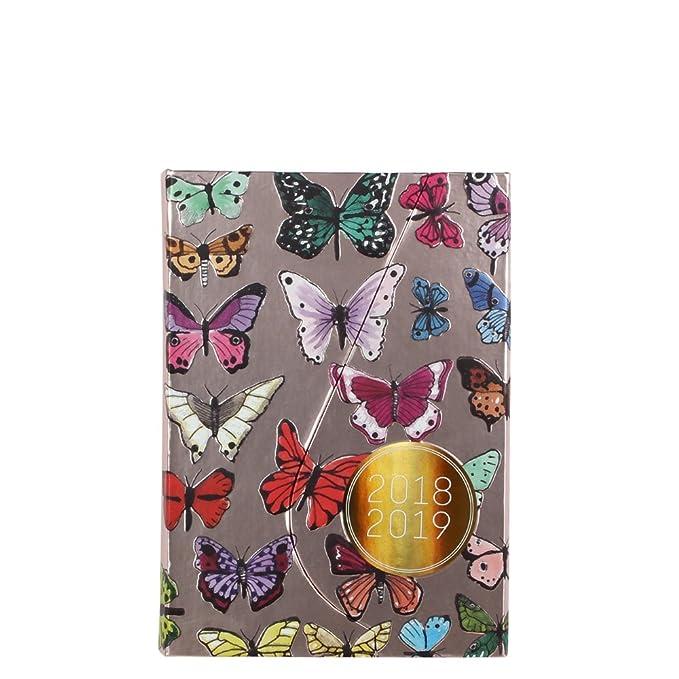 Agenda 2018/19 con diseño de mariposa magnética A6 de 2 días ...