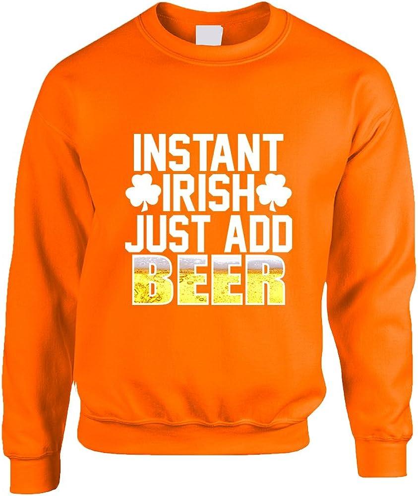 Allntrends Adult Sweatshirt Instant Irish Add Beer St Patricks Outfit
