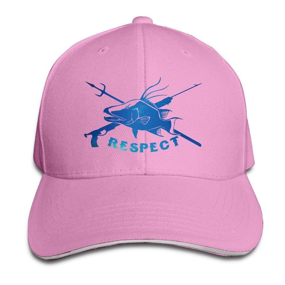 9f0f683cf0d0d Amazon.com  Basicap Unisex Adjustable Baseball Hat Respect The hogfish Cap   Clothing
