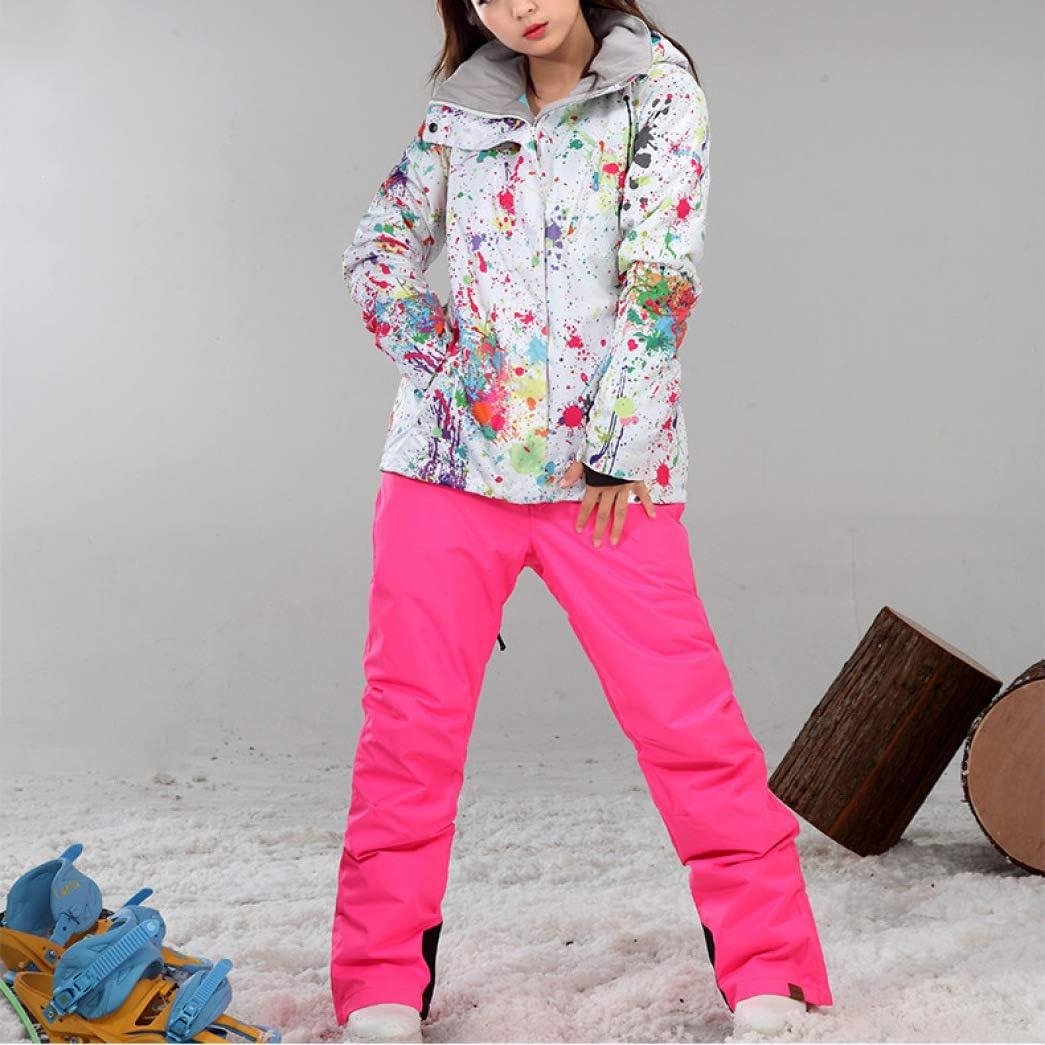 PsemesP Winter Ski Jacket+Pants Womens Snowboarding Suits Super Waterproof Breathable Ski Suit one7