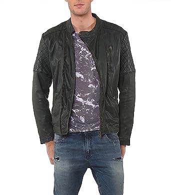 magasin en ligne 75b0f 3e9d0 Kaporal homme - Veste en cuir Noir Kaporal Trust - Taille ...