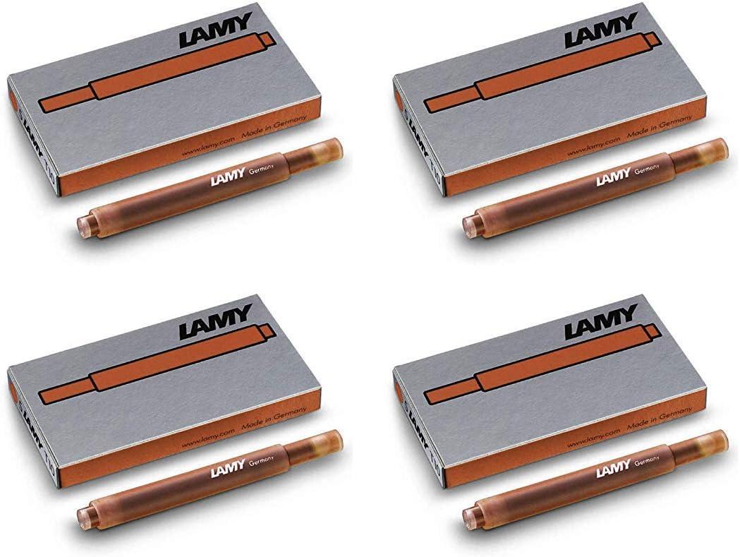 4 P/äckchen, gr/ün 8 Farben zur Auswahl Lamy T10 20 Tintenpatronen 4 P/äckchen mit 5 Tintenpatronen