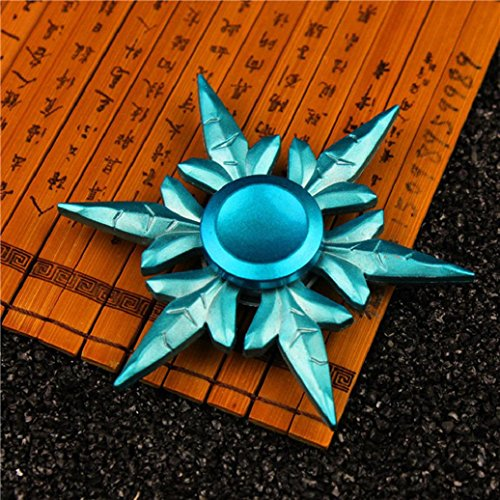 Price comparison product image NEW Spinner Fidget,Elevin(TM)2017 Adult Kids Hand Spinner Tri Fidget Ceramic Ball Desk Toy EDC Stocking Stuffer Hand Spinner Gyro Toy (Blue)