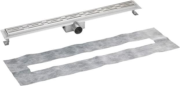 Canaleta de ducha profesional con rejilla de drenaje, 60-120 cm ...