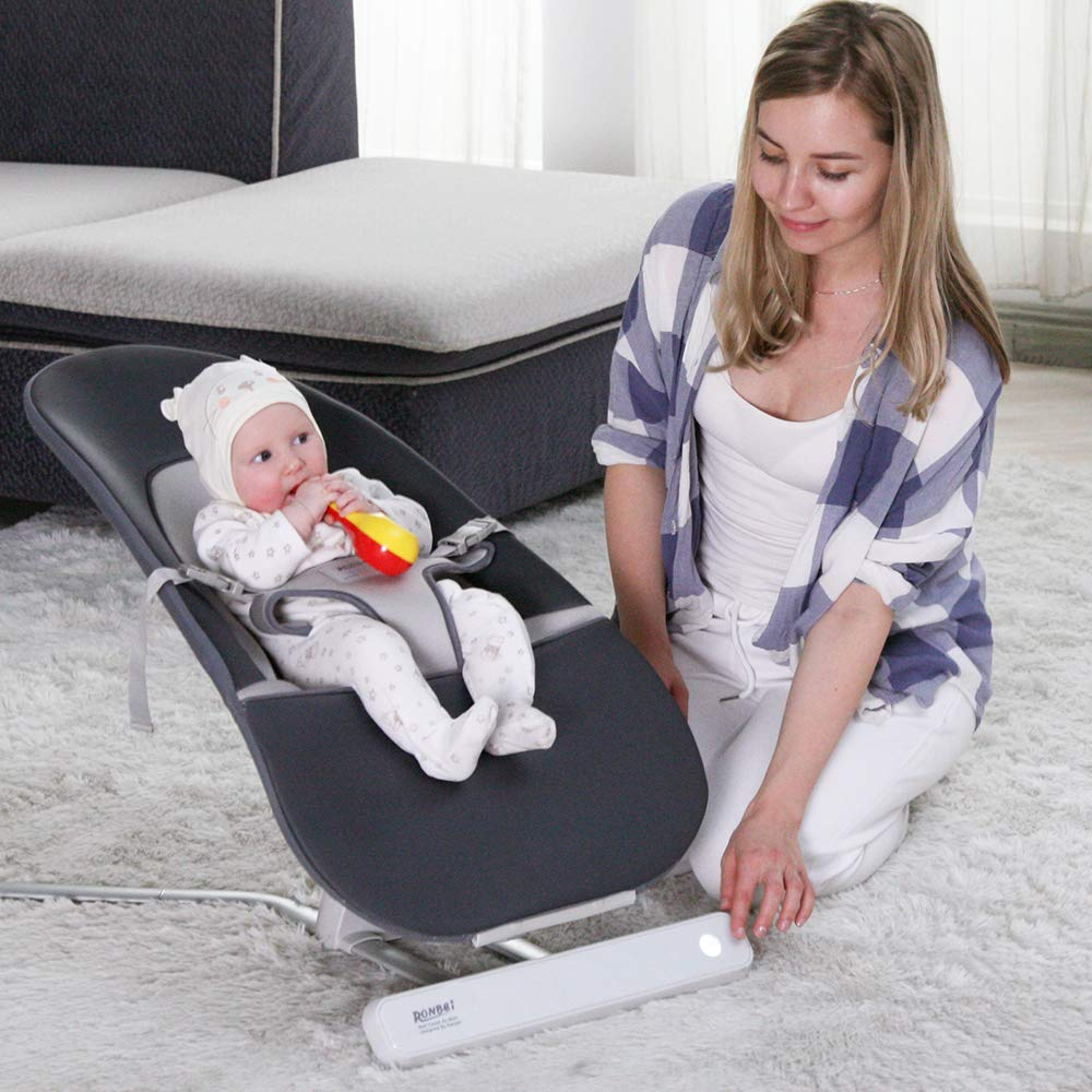 High-Tech Wireless Control Baby Swing and Bouncer,Automatic Baby Swing Bouncer,Portable Baby Rocker Chair-8 Sounds,2 Side-to-Side Motions