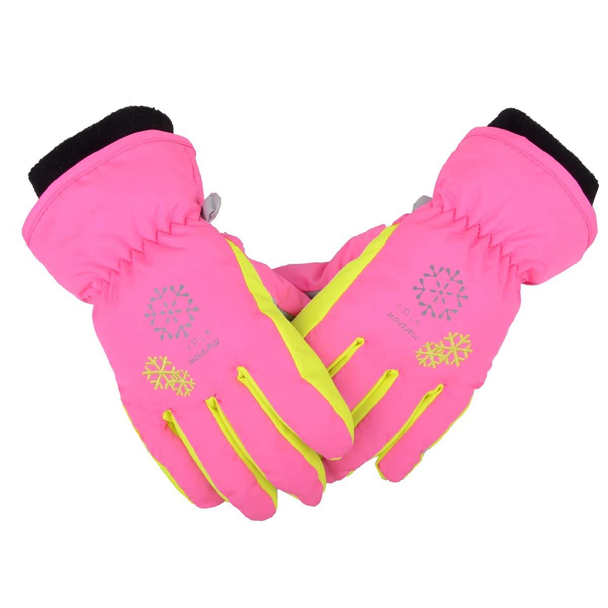 8991ee889 TRIWONDER Ski Snowboard Gloves for Kids - Waterproof Winter Warm Gloves  Thermal Fleece Snow Gloves product