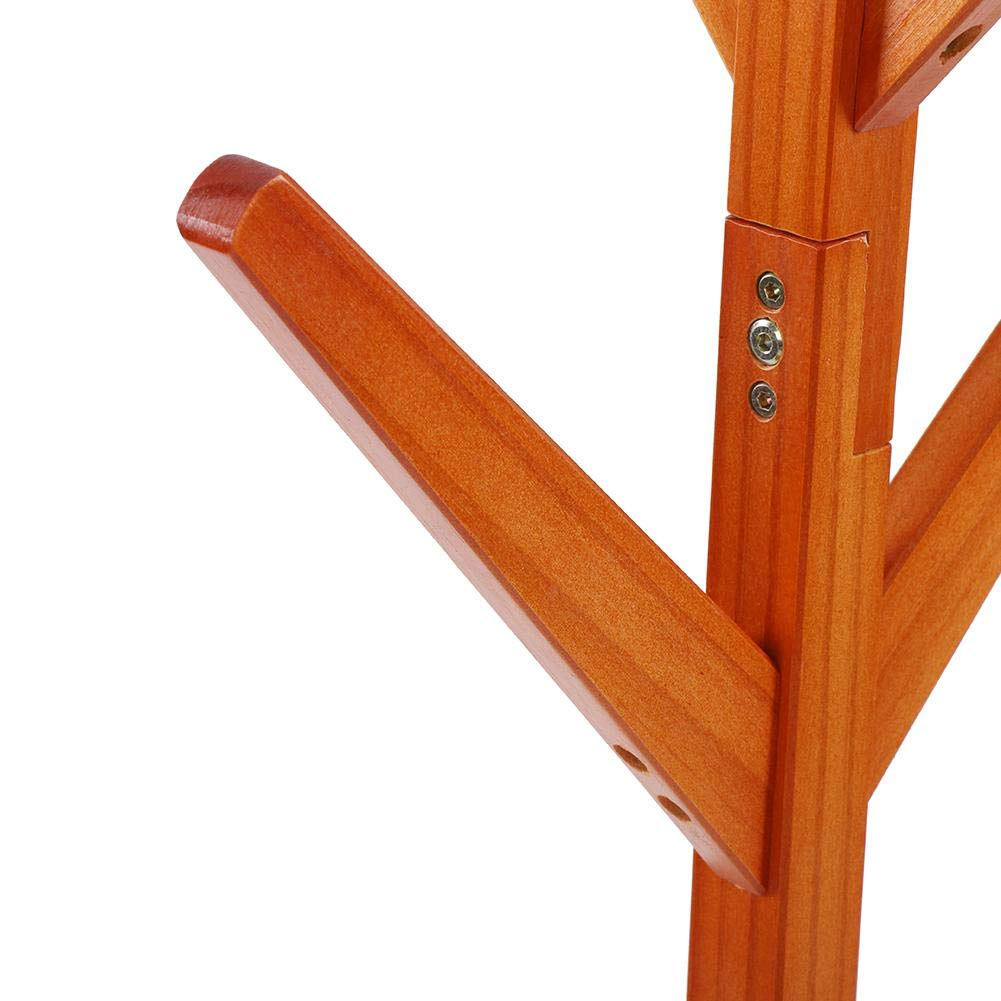 Piantana Appendiabiti Attaccapanni in Trepiede Appendiabiti Appendiabiti Smontato con 8 Ganci,164,5cm Bianco Appendiabiti in Legno da Parete Massello Design Albero