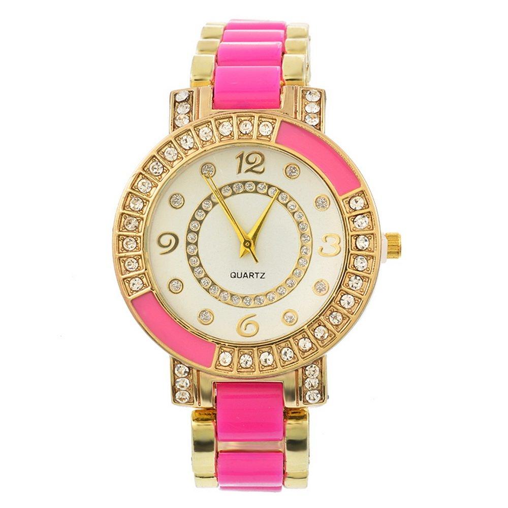 Loweryeah Ceramic Rhinestone Watch Quartz Watch 14X2cm