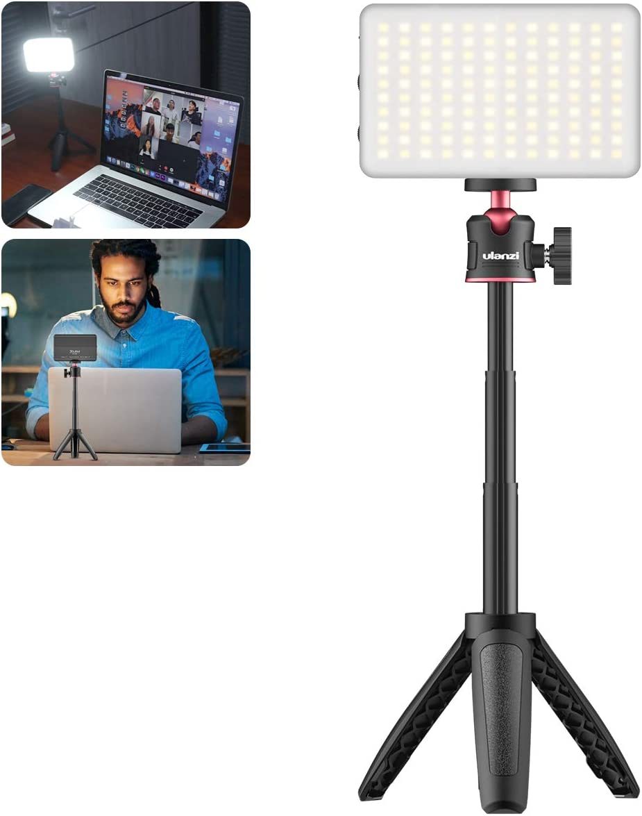 LED Light with Tripod Stand VIJIM Laptop Light for Video Conferencing for Remote Working, MacBook Computer Desk Light for Zoom Call,Self Broadcasting, Live Streaming,Online Meeting,Microsoft Teams