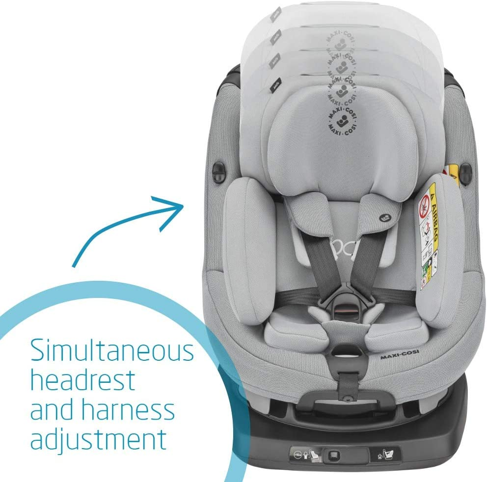 Swivel Car Seat 0 Months-4 Years Suitable From Birth 45-105 cm Authentic Grey Maxi-Cosi AxissFix Plus Convertible Car Seat