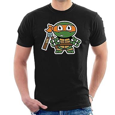 Mitesized Michelangelo Teenage Mutant Ninja Turtles Mens T ...
