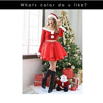 5a8fa8adb3d6d S C Live クリスマスコスプレ レディース オフショルチュールセットアップサンタ3点SET 美しいデコルテライン 長袖