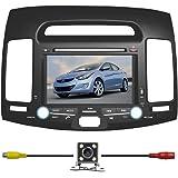 "BlueLotus® In-dash 7"" Car DVD Player GPS Navigation for Hyundai Elantra 2007 2008 2009 2010 w/ Radio TV Bluetooth RDS USB Av + Reverse Car Rear Camera + Free USA Map"