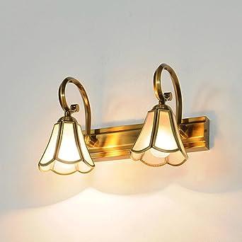 SUN LL LED Klassische Kupfer Badezimmer Spiegelleuchten ( Größe : 30cm )