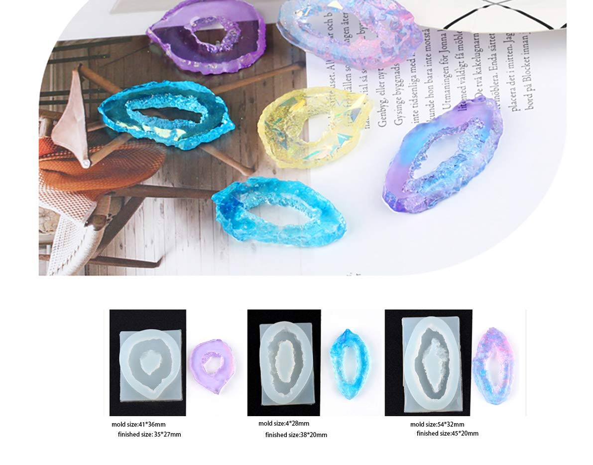 DOYOLLA Clear Fairy Mermaid Silicone Molds DIY Resin Jewelry Making Necklace Pendant Ring Pendant Casting Mould Craft Tool