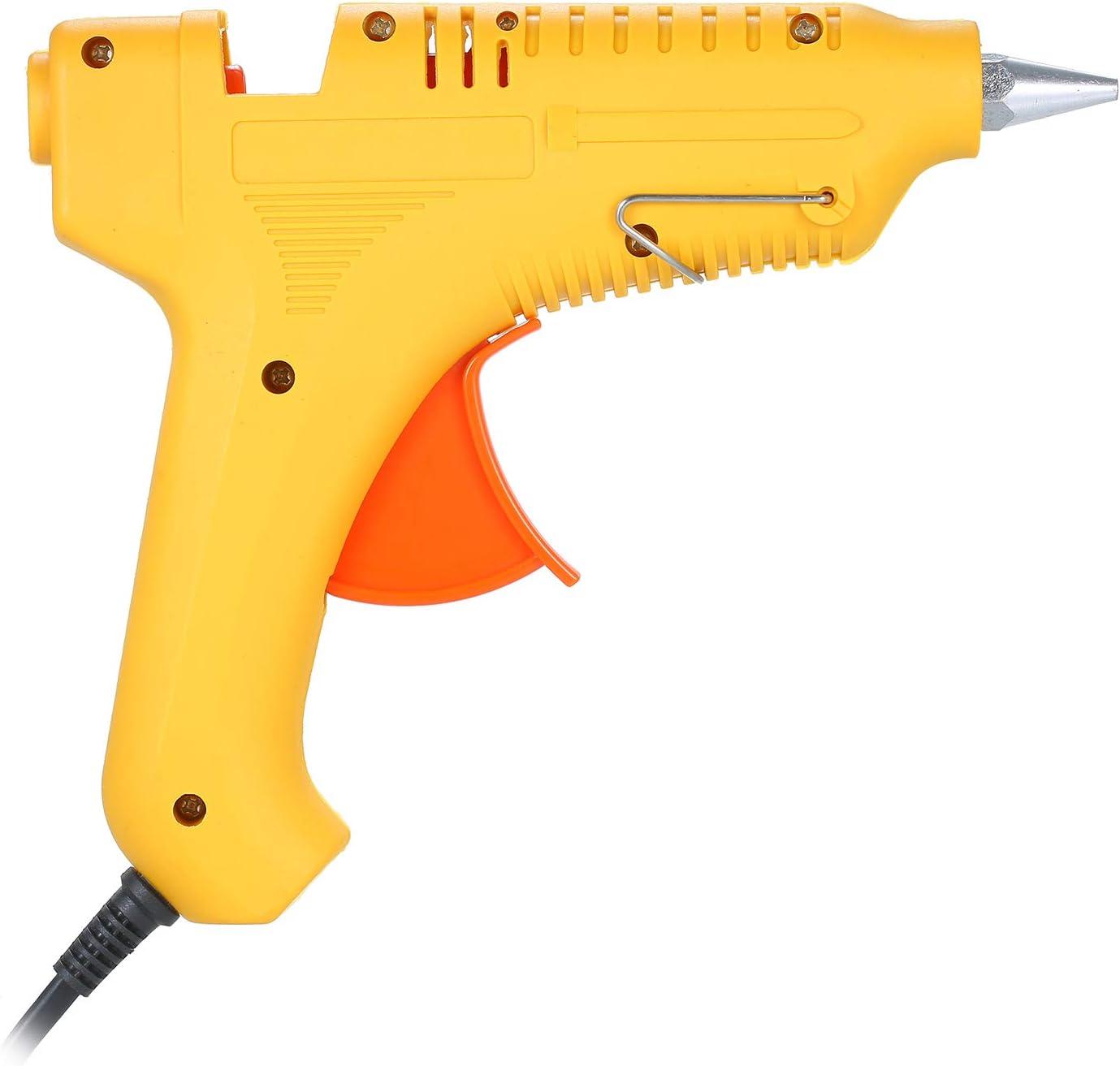 Pistolet /à colle thermofusible 60W 100W Puissance r/églable Machine /à colle thermofusible Multifonctionnel M/énage industriel BRICOLAGE Pistolet /à colle Jaune GT-10