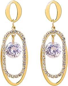 Pendientes Pendientes de anillo geométrico exquisita moda popular temperamento clásico estilo largo pendientes de moda individuales
