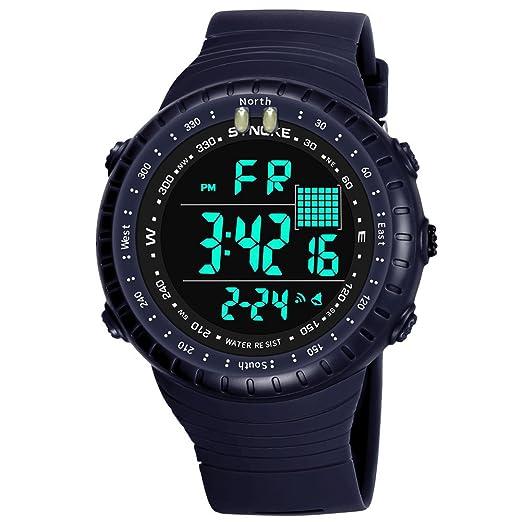 Reloj Digital, para Hombre, para Actividades al Aire Libre, 50 m Impermeable Deporte