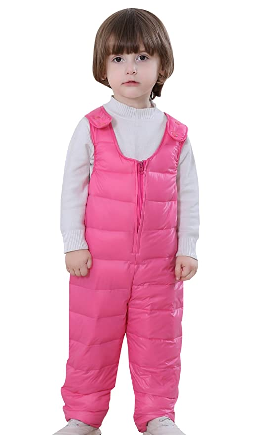 Amazon.com: Dongzhiyue Kids Adjustable Down Jumpsuit Padded Puffer Rompers Thicker Pants: Clothing