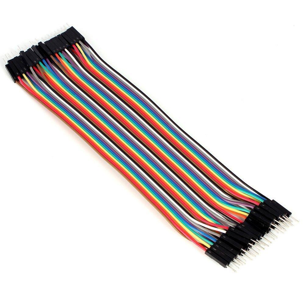 20cm//2.54mm Daorier 20cm Multicolore Jumper C/âbles pour Dupont 40 Pin M/âle vers M/âle Breadboard Jumper Fils Ruban C/âbles Kit pour Arduino 1 Pi/èces Male-Male