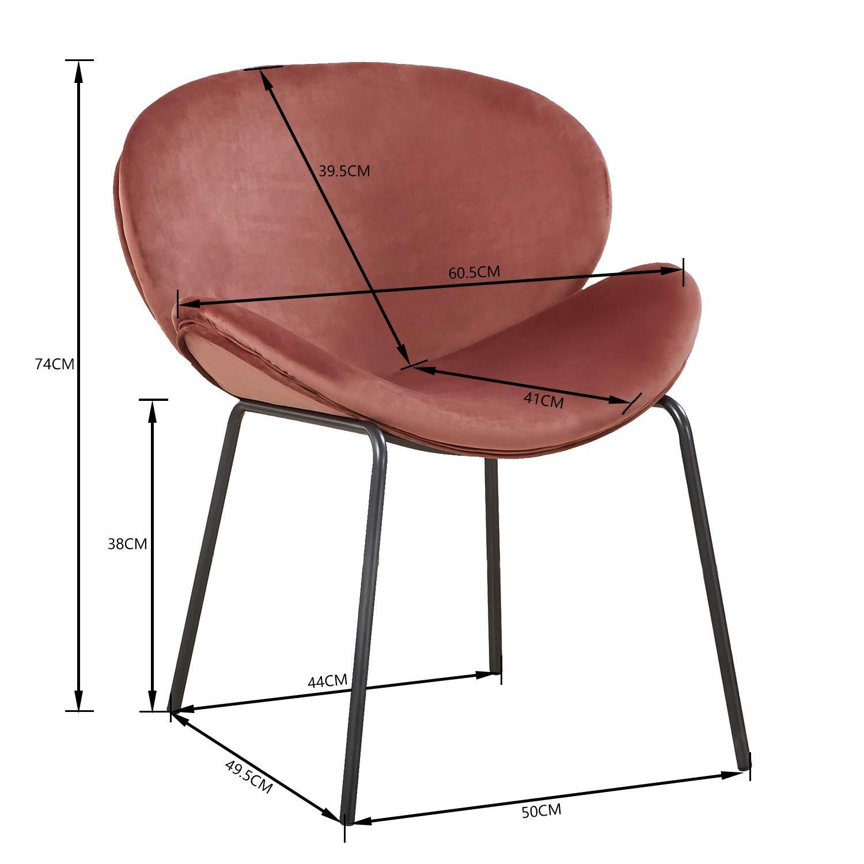 Rosa Esszimmerstuhle Samt Stuhle Kuchenstuhle Schone Form Bequeme