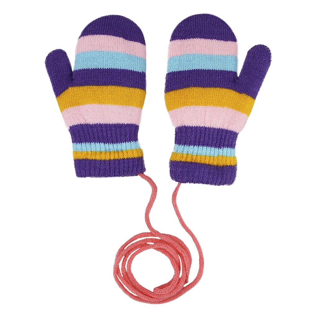 aee226e9071 Moufles Bébé Automne Hiver Gants Tricoté Crochet Double Velours ...