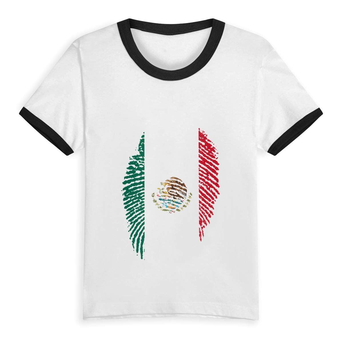Gomop Flag of Mexico Fingerprint Summer Basic Little Boys Short Sleeve Tee Short T Shirts