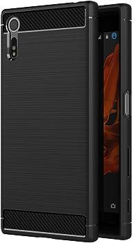AICEK Funda Sony Xperia XZ/Sony Xperia XZs, Negro Silicona ...